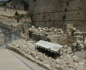 Huge stones that were thrown down from the ancient Second Holy Temple by the Romans in 70 CE