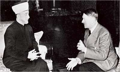 Adolph Hitler and his staunch ally, the leader of the Muslim world, Haj Amin al-Husseini